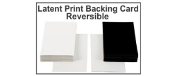 Latent Print Backing Cards - Reversible