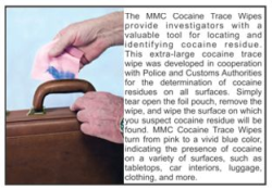 MMC Cocaine Trace Wipes