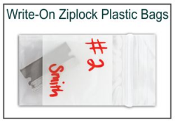 Write-On Ziplock Evidence Bags