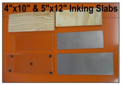 Glass & Stainless Steel Inking Slabs