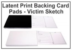Latent Print Backing Card Pads - Victim Sketch