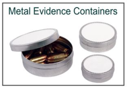 Metal Evidence Collection Containers