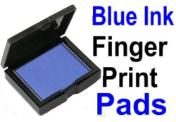 Blue Fingerprint Pad