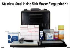 Stainless Steel Slab Master Portable Fingerprinting Kit