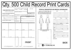 Child Record Fingerprint Cards