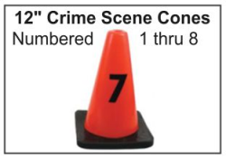 "12"" Crime Scene Cones - Numbers 1-8"