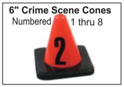 "6"" Crime Scene Cones - Numbers 1-8"