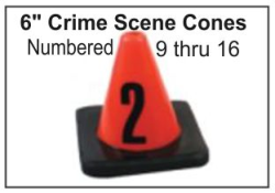 "6"" Crime Scene Cones - Numbers 9-16"