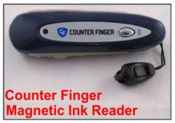 COUNTER Finger Magnetic Ink Readers