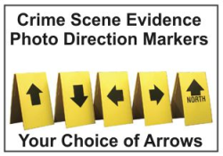 Crime Scene Evidence Markers Photo Direction Indicator Markers