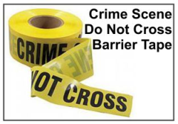 Crime Scene Do Not Cross Barrier Tape