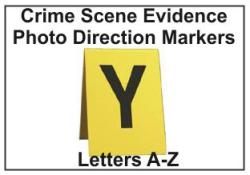 Crime Scene Evidence Photo Markers, A thru Z Evidence Photo Direction A-Z
