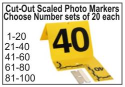 Evidence Photo Marker  Crime Scene Evidence Photo Markers Photo Marker with Cut-Out Scale Crime Scene Evidence Marker Scale