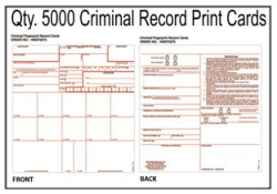 Criminal Fingerprint Record Cards