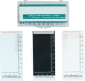 "Transparent Scaled Hinged Print Lifters - 2"" x 4"" - 12/box"