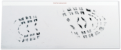 "6""x15"" Black Hinged Footprint Residue Lifter"