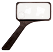 Handheld General Purpose Acrylic Lens Magnifier - Rectangular