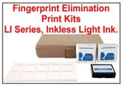 Elimination Fingerprint Kit CKFPEL LI, Light Ink, Semi-Inkless Pad Elimination Print Kit