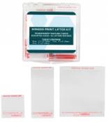 Transparent Hinged Palm Print Lifter Basic Hinged Print Lifter Kit - 48/box