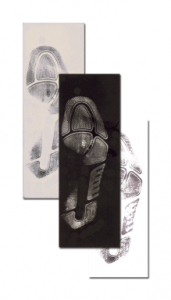"""5""""x14"""" Rubber/Gelatin Footprint Lifter - Black"""