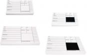 Crime Sketch Backing Card Pad