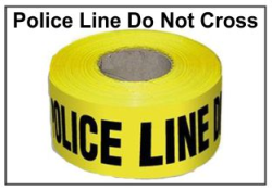 Police Do Not Cross, Barrier Tape