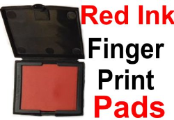 Red Fingerprint Pad