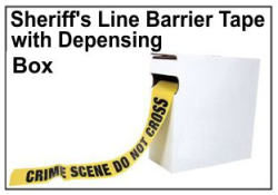 Crime Scene Barrier Tape, Sheriff's Line