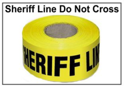 Sheriff's Line Do Not Cross Barrier Tape