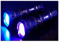 Tactical UV light TRIBRITE 460 Tactical bright blue