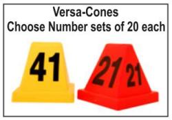 Evidence Versa-Cones Crime Scene Cones Numbered Evidence Versa-Cones Crime Scene Versa-Cones